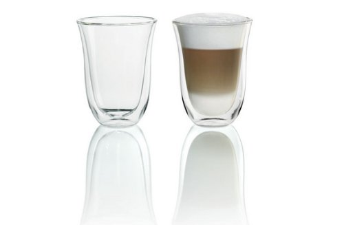 DeLonghi 5513214611 Doppelwandiges Thermoglas Latte Macchiato, 2-er Set